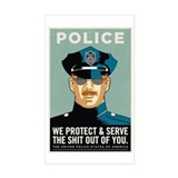 Police Protect &amp; Serve Decal