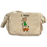 Boy Skateboarder Messenger Bag