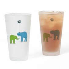 Whimsy Elephants Drinking Glass