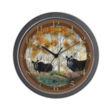 Moose oil 2 Wall Clock