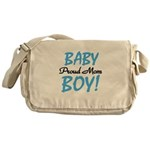 Baby Boy Proud Mom Messenger Bag