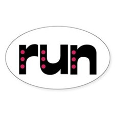 run - pink polka dots Decal