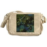 Degas Blue Dancers Messenger Bag