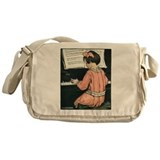 Child Playing the Piano Messenger Bag