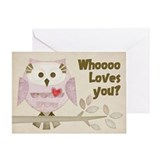 Whoo Loves You Greeting Card