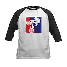 Red White and Blue BMX Bike Rider Tee