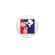 Red White and Blue BMX Bike Rider Mini Button (100