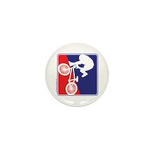 Red White and Blue BMX Bike Rider Mini Button (10