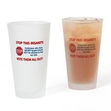 Vote Them All Out Drinking Glass