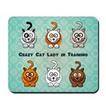 Crazy Cat Lady In Training Mousepad