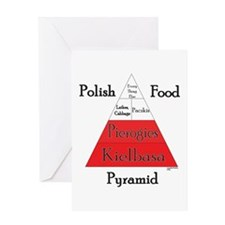 Polish Food Pyramid Greeting Card