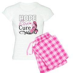 Hope Love Cure Breast Cancer Women's Light Pajamas