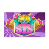 Pink Super Sis Car Magnet 20 x 12