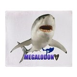 Megalodon Throw Blanket