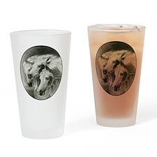 Pharaoh's Horses Drinking Glass
