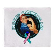 Kickin' Thyroid Cancer's Ass Throw Blanket