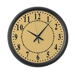 Yellow Linen Look Large Wall Clock