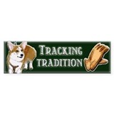 TRACKING TRADITION - Bumper Sticker