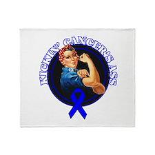 Kickin' Rectal Cancer's Ass Throw Blanket