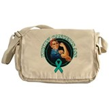 Kickin' Ovarian Cancer's Ass Messenger Bag