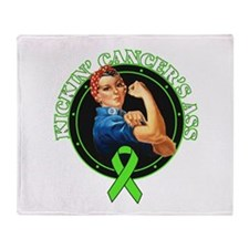 Kickin NonHodgkin's Lymphoma Throw Blanket