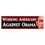Working Americans Against Obama sticker