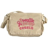 Breast Cancer Cousin Walk Messenger Bag