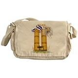 Gold Twin Towers, Eagle n Fla Messenger Bag