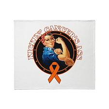 Kickin' Kidney Cancer's Ass Throw Blanket