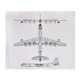 B-36 Peacemaker Throw Blanket