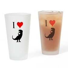 Unique Dinosaur heart Drinking Glass