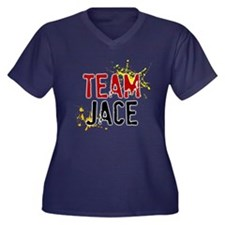 Team Jace Women's Plus Size V-Neck Dark T-Shirt