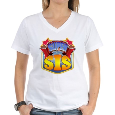 Super Sis Women's V-Neck T-Shirt