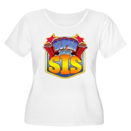Super Sis Women's Plus Size Scoop Neck T-Shirt