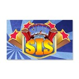 Super Sis Car Magnet 20 x 12