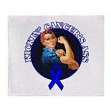 Kickin' Colon Cancer's Ass Throw Blanket