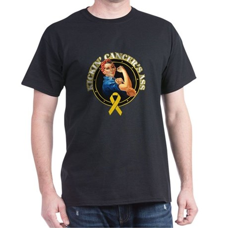Kickin Childhood Cancer Ass Dark T-Shirt