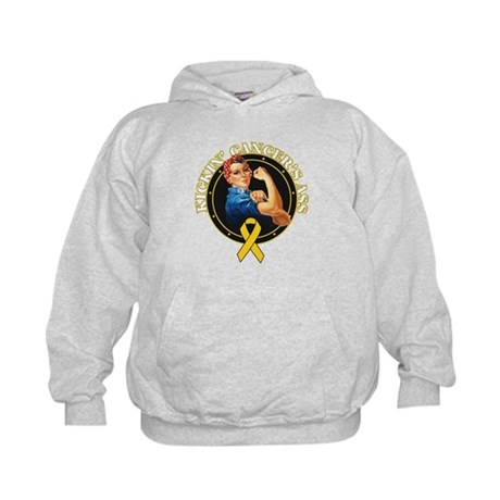 Kickin Childhood Cancer Ass Kids Hoodie