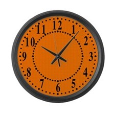 Orange Satin Look Large Wall Clock