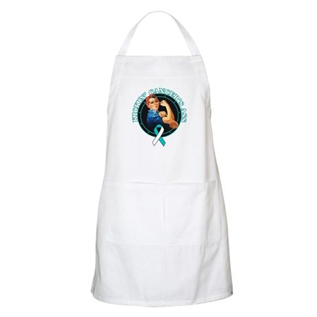 Kickin Cervical Cancer's Ass Apron