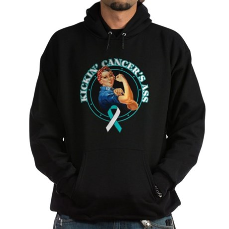 Kickin Cervical Cancer's Ass Hoodie (dark)