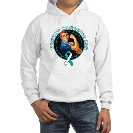 Kickin Cervical Cancer's Ass Hooded Sweatshirt