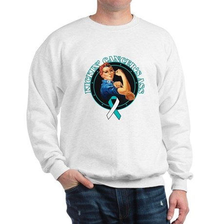 Kickin Cervical Cancer's Ass Sweatshirt