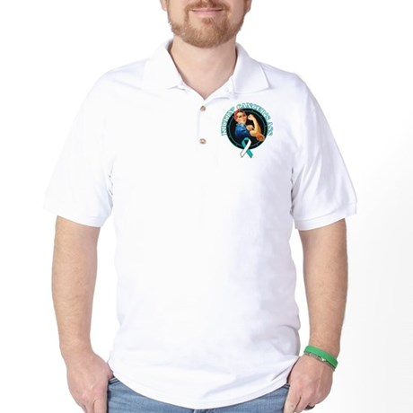 Kickin Cervical Cancer's Ass Golf Shirt