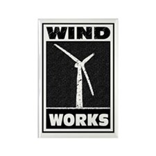 Wind Works: Rectangle Magnet