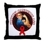 Kickin' Blood Cancer's Ass Throw Pillow