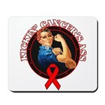 Kickin' Blood Cancer's Ass Mousepad