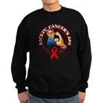 Kickin' Blood Cancer's Ass Sweatshirt (dark)