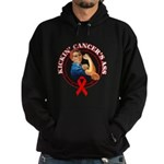 Kickin' Blood Cancer's Ass Hoodie (dark)