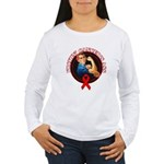 Kickin' Blood Cancer's Ass Women's Long Sleeve T-S